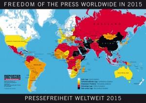 Pressefreiheit weltweit 2015