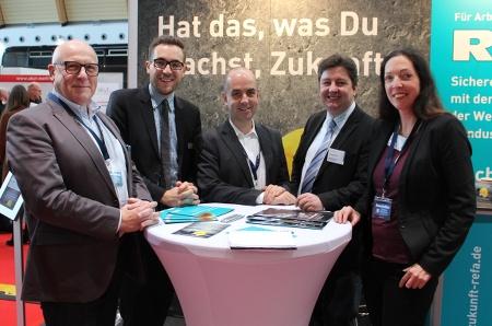 Dirk Kremer, Johannes Kluge, Lars Hahn, Lars Pielemeier und Moderatorin Dr. Birgit Lutzer. Foto: Jana Kremer.